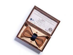 Wooden bow tie. SÖÖR Antero Mahogany Black
