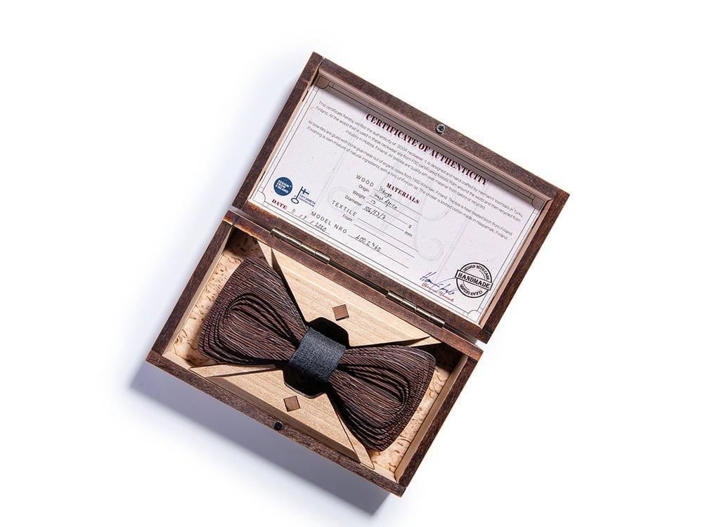 SÖÖR Papillon da uomo in legno grigio scuro Antero wengé