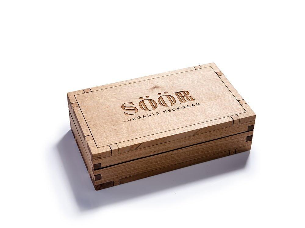 Scatola in legno del cravattino SÖÖR.